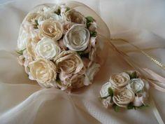Ramos De Novia / Tocados Con Flores De Tela. Romanticos - $ 520,00
