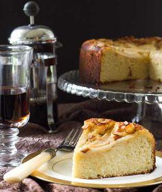 Almond Flour Pear Almond Cake - Grain Free #paleo