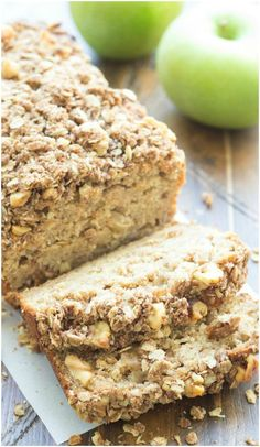 Greek Yogurt Apple-Cinnamon Bread - a delicious for #breakfast or even ...