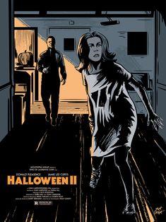 The portfolio of New Hampshire-based illustrator and graphic designer Matt Talbot Halloween 2 1981, Halloween Series, Halloween Horror, Halloween Ideas, Horror Movie Posters, Horror Films, Michael Myers, Cinema, Classic Horror Movies