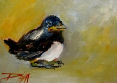 Baby Bird, painting by Delilah Smith