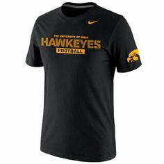 Nike Iowa Hawkeyes Practice Team T-Shirt - Black