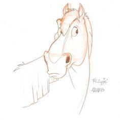 Sketch of Philippe of Disneys Beauty And The Beast by SaPuddichina.deviantart.com on @deviantART