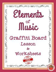Are you teaching the elements of music??  Here is a fantastic lesson that is done for you!!  Elements of Music Graffiti board lesson outline and worksheets!                       CLICK through to read more or RE-PIN for later!    Includes a FREE downloa