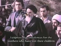 Imam Khomeini's first speech after arrival from Exile in February 1979 - YouTube