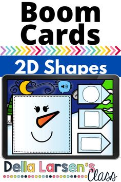 Boom Cards offer a fun geometry math center this winter in your kindergarten class. This is a great winter math center. A wonderful way to add to your snowman unit. Make 2D shapes a part of your snowman math unit this winter Kindergarten Math Activities, Kindergarten Classroom, Preschool, Interactive Learning, Fun Learning, Google Classroom, Literacy Centers, Geometry, 2d