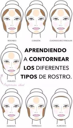 contorno para os formatos de rosto oval redondo longo diamante triangulo iluminador etc. Face Contouring, Contour Makeup, Contouring And Highlighting, Skin Makeup, Love Makeup, Makeup Art, Makeup Looks, Makeup Geek, Make Up Tricks