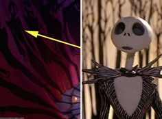 9.) A shadow in The Princess And The Frog looks a lot like Jack from The Nightmare Before Christmas...