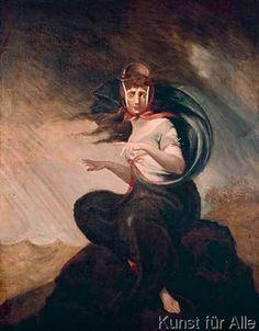 Johann Heinrich Füssli - Die wahnsinnige Kate; ein M{dchen, das aus Trauer um ihren von der Seefahrt nicht zur}ckgekehrten Liebhaber den Verstand verlore
