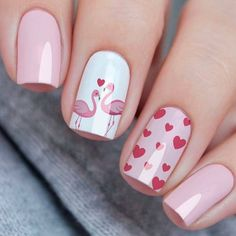 54 Simple Spring Nail Designs for Short Nails and Long Nails 54 Simple Spring Nail Designs for Short Nails and Long NailsIs it a little aesthetic fatigue to have a dark color nails for a winter? Cute Spring Nails, Cute Nails, My Nails, Short Nail Designs, Nail Designs Spring, Design Ongles Courts, Long Nails, Short Nails, Nail Polish Colors