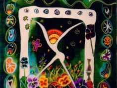 """Dance of Spring"" by Jerry Wray - Contemporary American Artist - Shreveport, LA - Altar Series http://JerryWray.com"