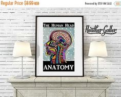 35% Off Today- DIGITAL Print File - Modern Anatomy Art Print Poster of Painting by Heather Galler Science Surreal Abstract Human Body Medica