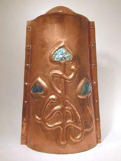 Arts & Crafts Copper Wall Pocket