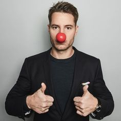 Justin for Red Nose Day Justin Scott, Best New Shows, Justin Hartley, Red Nose Day, Smallville, American Actors, This Is Us, All About Time, Instagram