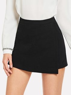 To find out about the Slant Pocket Asymmetrical Solid Skirt at SHEIN, part of our latest Skirts ready to shop online today! Short Skirts, Mini Skirts, Wrap Skirts, Skirt Fashion, Fashion Outfits, Jupe Short, Fashion News, Nyc Fashion, Fashion Bloggers