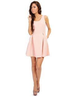 5061e310c5ab Dámské šaty MOE - běžová