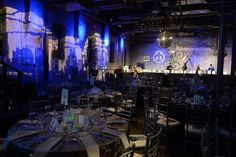 Display it in Lights: At the Walrus Foundation gala, the shape of the city skyline also appeared in lights along one wall of the venue.