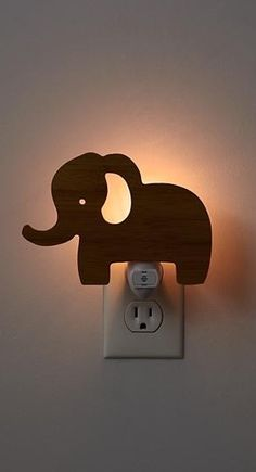 Our wooden Elephant Night Light is going to be the best sleepover guest ever. It' will provide your kid's room or nursery with a soft, soothing glow night after night. Our elephant night light also makes adorable decor in your kids room during the day.