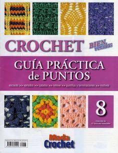 Revistas de manualidades Gratis: Revista de crochet Guía de práctica de puntos 8