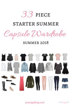 Take a peak at the items in my summer capsule wardrobe for 2018, and even shop for the same or similar items. This capsule wardrobe is a starter capsule, perfect for the beginner minimalist!