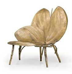 sculptural poetic wanderlust- amazing chair by Claude Lalanne / typical of furniture found in Bixby's parents' home