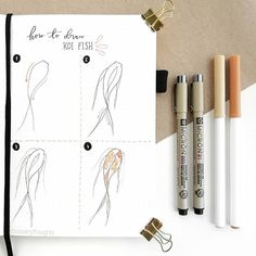 Hope you find this tutorial helpful! Bullet Journal Aesthetic, Bullet Journal Notebook, Bullet Journal Ideas Pages, Bullet Journal Spread, Bullet Journal Inspiration, Koi Fish Drawing, Bullet Journel, Easy Drawings, Scrapbook