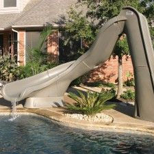 Swimming Pool Slide Ideas inground swimming poolslidegrotto Sr Smith Turbo Twister Swimming Pool Slide