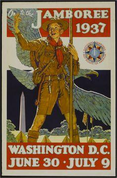 USA - Boy Scout Jamboree - (artist: Rockwell, Norman c. - Vintage Advertisement (Art Print - Multiple Sizes Available) Les Scouts, Girl Scouts, Vintage Ads, Vintage Posters, Vintage Magazines, Vintage Signs, Vintage Prints, Scouts Of America, Boys Life