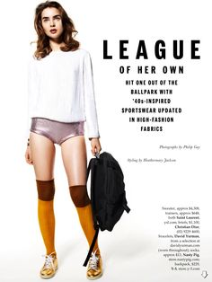 League Of Her Own: Ali Michael By Philip Gay For Elle Australia January 2014
