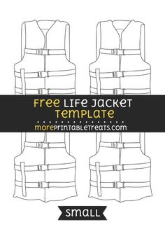 Free Life Jacket Template - Small