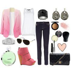 LOVE the blazer and heels!!