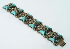 1950's Chunky Faux Turquoise Faux Pearl by vintagebitsblitz