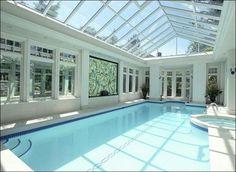 pool house~amazing windows