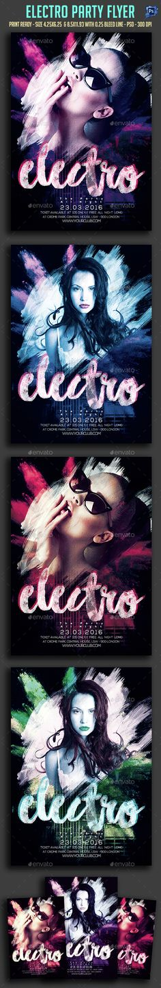 Electro Party Flyer Template PSD. Download here: http://graphicriver.net/item/electro-party-flyer-/15342123?ref=ksioks