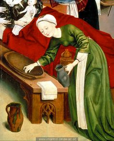 http://tethys.imareal.sbg.ac.at/realonline/ Birth of the Virgin ca. 1470. Every day work clothes.