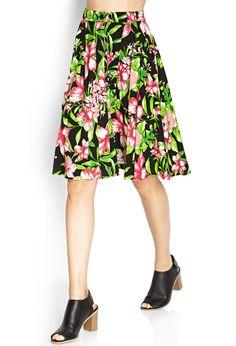 Island Print A-Line Skirt | Skirts | Love21 - 2000061712 | Forever 21 UK