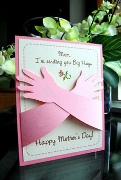Mother's Day Card Hugs I love you this much by RightBrainy on Etsy