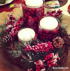 31 Days to a Stress-Free Holiday : Decorate Inside of the House | Like a SaturdayLike a Saturday