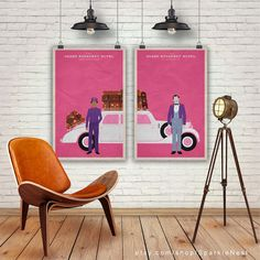 The Grand Budapest Hotel. Set of 2 Prints. Wes by SparkleNest