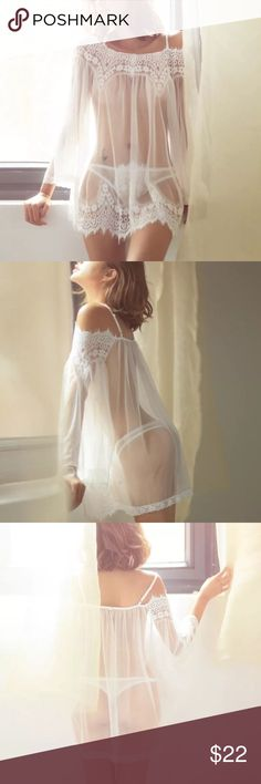 Sexy Lace Nightwear Beautiful and attractive New fresh to your couple's life, stimulative design for you two  100% Brand New and High Quality  Color: White  Material: Lace   Size: S & M Intimates & Sleepwear
