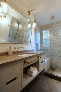 "Laurelhurst Marble Bathroom - eclectic - Bathroom - Portland - Designed by Arciform""s Kristyn Bester"