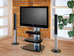 This is another revolving tv stand designed for hanging LED or LCD from 32'' up to 46'' with max. weight up to 35kg. Screen mount included - thanks to it, you can turn your screen 15º left or right.