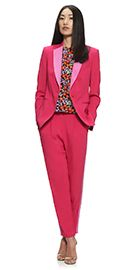 Fuschia pink tailored jacket made from a luxurious crepe
