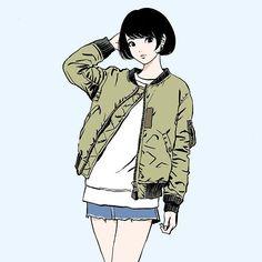 MA-1着てる女子はそれだけで惚れるわ。そんな朝です。まだ仕事中。
