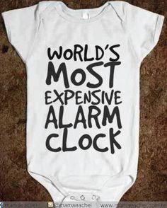 O alarme mais caro e mais gostoso do mundo!❤️  Foto: pinterest    #humordodia#paisefilhos#finaldesemana#mamãeachei#comprecomamor