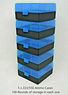 NO AMMO 10 PACK YELLOW 22 lr Ammo Box // Case // Storage 1000 Rnds of STORAGE