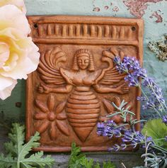 "Bee Goddess from Rhodes, 7th Century BCE    The bee was a prevalent image of the Goddess found in such diverse cultures as Mesopotamia, Lithuania, Egypt, Sicily, and elsewhere. The names Melissa and Deborah refer to a priestess of the goddess and literally mean ""honey bee."""