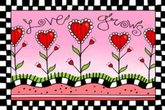 Love Grows Doormat 18 x 30 dye sublimated. non-slip recycled rubber backing. weather proof for indoor/outdoor use.  #Evergreen #Lawn&Patio