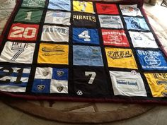 Tshirt quilt for Will