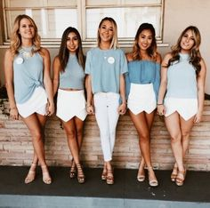 Sorority Recruitment Outfit Ideas Picture subtly or not so subtly match with your sorority some Sorority Recruitment Outfit Ideas. Here is Sorority Recruitment Outfit Ideas Picture for you. Sorority Recruitment Outfit Ideas what to wear to sorori. Sorority Rush Shirts, Sorority Recruitment Outfits, College Sorority, Sorority Sisters, Sorority Life, Sorority Dresses, Sorority Fashion, Rush Outfits, College Outfits